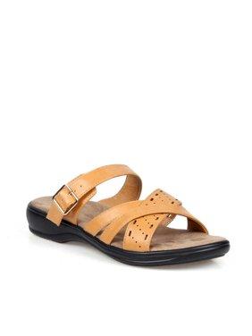 Mark and Maddux Slip on Women's Crisscross Comfort Sandals