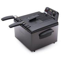 Presto 05489 Black Stainless Steel Dual Basket ProFry Immersion Element Deep Fryer