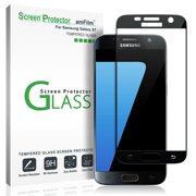 Samsung Galaxy S7 AmFilm Full Cover Tempered Glass Screen Protector Black