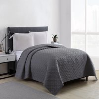 Mainstays Emma Solid Basketweave Quilt Collection, 1 Each