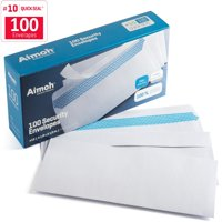 #10 Security Tinted Self‐Seal Windowless Envelopes ‐ 4‐1/8 x 9‐1/2 - 100 Count (34100)