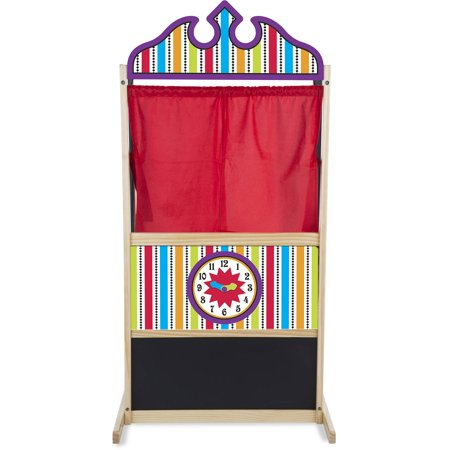 Floor Model Puppet Theater - Melissa & Doug Deluxe Puppet Theater - Sturdy Wooden Construction