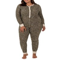 Fit for Me by Fruit of the Loom Women's Plus Size Waffle Thermal Underwear Union Suit