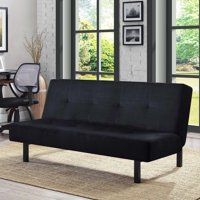 "Mainstays 65"" 3-Position Tufted Futon, Multiple Colors"