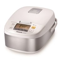 Panasonic 5 Cup (Uncooked) Microcomputer Controlled Rice Cooker (Stainless Steel/White)