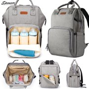 b418b7b34be4 Spencer Waterproof Baby Diaper Backpack Large Capacity Travel Mummy Nappy  Bags Nursing Bag with USB Charging