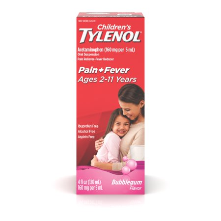 Children's Tylenol Pain + Fever Relief Medicine, Bubble Gum, 4 fl. (Best Medicine To Reduce Fever)