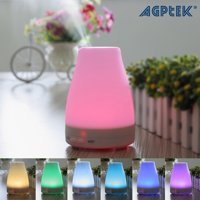 AGPtek Oil Aromatherapy Diffuser Ultrasonic Humidifier with 7 Color Changing LED Waterless Auto Shut-off