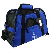 Felji Small Pet Carrier Soft Sided Cat Dog Comfort Travel Tote Shoulder Bag Blue