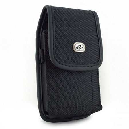 T-Mobile Kyocera Rally Premium High Quality Heavy Duty Black Vertical Rugged Canvas Holster w/ Metal Belt Clip and Belt Loop - High School Rally Themes