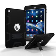 iPad Mini 4 Case, Tekcoo [Troyal HY] Hybrid 3 IN 1 Shock Absorbing Heavy Duty Defender Rugged Silicone Hard Case With Kickstand Full Body Anti-slip Protective Cover For Apple iPad Mini 4