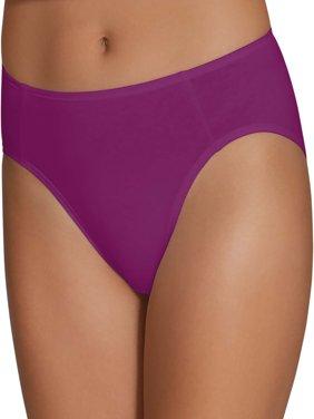 Women's Cotton Stretch Hi-Cut Panties, 6 Pack