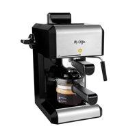 Mr. Coffee Café 20 Ounce Steam Automatic Silver Espresso & Cappuccino Maker, 1 Each