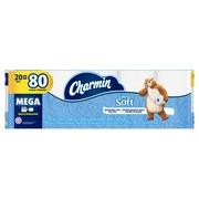 Charmin Ultra Soft Toilet Paper, 20 Mega Rolls