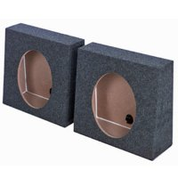 """(2) Q-POWER QTW12 Single 12"""" Sealed Car Audio Subwoofer Sub Box Enclosures Pair"""