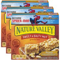(3 Pack) Nature Valley Granola Bars Sweet and Salty Nut Peanut 6 Bars - 1.2 oz