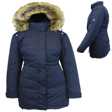 Women's Heavyweight Parka Jacket With Detachable (Black Down Parka)