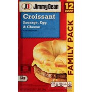 Jimmy Dean® Sausage, Egg & Cheese Croissant Sandwiches, 12 Count (Frozen)