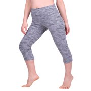 3d63314c82 HDE Women's Yoga Capris High Waist Pants Out Pocket Power Flex Workout  Leggings