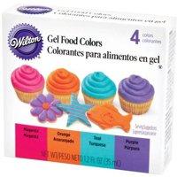 (2 Pack) Wilton Neon Gel Food Colors Set, 4ct