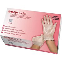 Medline Powder-Free Synthetic Vinyl Exam Gloves, Medium, Case of 1500