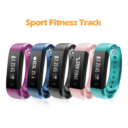 Fitness Tracker, Diggro ID115HR Activity Tracker Watch with Heart Rate IP67 Waterproof Bluetooth 4.0 Sports Pedometer Sleep Monitor Call/SMS Reminder Sedentary Reminder for Kids Women Men