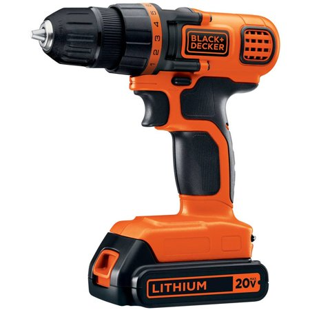 BLACK+DECKER 20-Volt MAX* Lithium-Ion Drill-Driver, LDX120C
