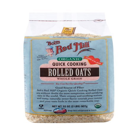 - (4 Pack) Bob's Red Mill Organic Quick Cooking Rolled Oats, 32 Oz