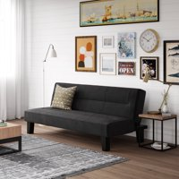DHP Kebo Futon Couch with Microfiber Cover, Multiple Colors