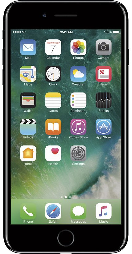 Refurbished Apple iPhone 7 Plus 128GB, Jet BLack - Unlocked (Iphone 7 Plus Touch Screen Not Working Properly)