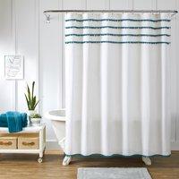 Better Homes and Gardens Pom Pom Fabric Shower Curtain