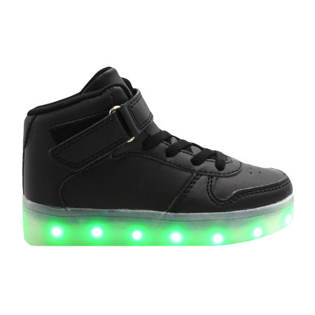 Galaxy LED Shoes Light Up USB Charging High Top Kids Sneakers