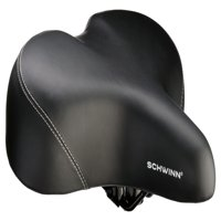Schwinn Super Breeze Extra Wide Foam Comfort Bike Seat, Black