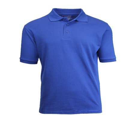 Mens Short Sleeve Pique Polo Shirts Uniform Fitted ()