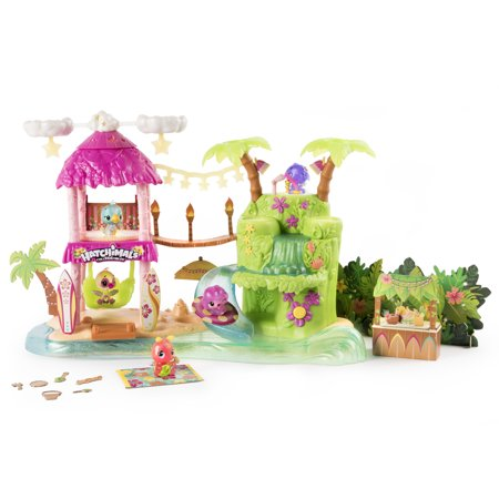 Hatchimals CollEGGtibles Tropical Party Playset with Lights, Sounds and Exclusive Season 4 Hatchimals CollEGGtibles, for Ages 5 and Up