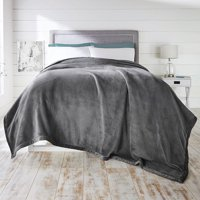 """Better Homes and Gardens Fluffy Blanket, Gray, Full/Queen, 90"""" L x 90"""" W"""