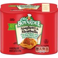 (3 Pack) Chef Boyardee Spaghetti and Meatballs, 14.5 oz, 4 Pack