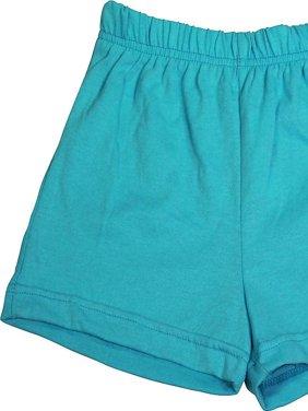 Toddler Little Girls Knit Athletic Gym Excersize Shorts - 13 Colors - Sizes 2T -, 38985 Aqua / 4T