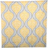 Mainstays Yellow Damask Faux Silk Fabric Shower Curtain