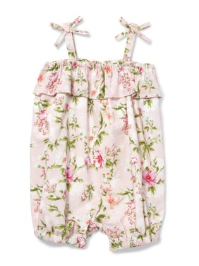 Floral Bubble Romper (Baby Girls)