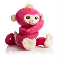 Fingerlings HUGS - Bella (Pink) - Advanced Interactive Plush Baby Monkey Pet - by WowWee