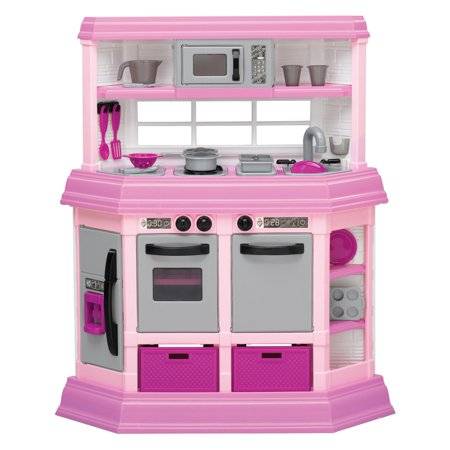 American Plastic Toys Deluxe Custom Kitchen with 22 Accessories](Plastic Toy)