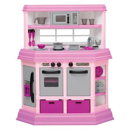 american plastic toys deluxe custom kitchen with 22 accessories rh walmart com