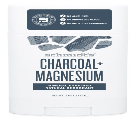 Schmidt's Charcoal + Magnesium Natural Deodorant Stick, 2.65