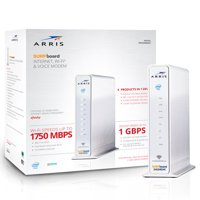 ARRIS SURFboard SVG2482AC (24x8) Cable Modem Router & Voice, DOCSIS 3.0 | AC1750 Dual-Band | Certified for XFINITY and XFINITY Telephone Only