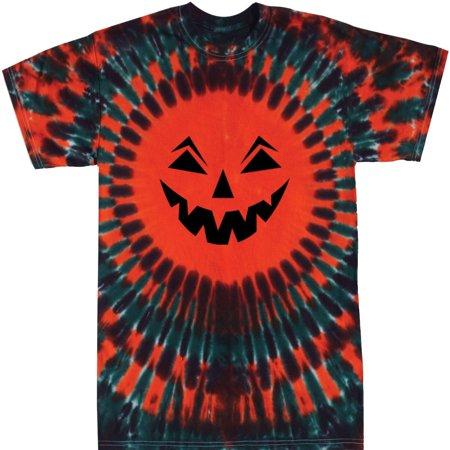 Tie Dyed Shop Halloween Jack-O-Lantern Tie Dye T Shirt-Long Sleeve-Large](Halloween Dyne)