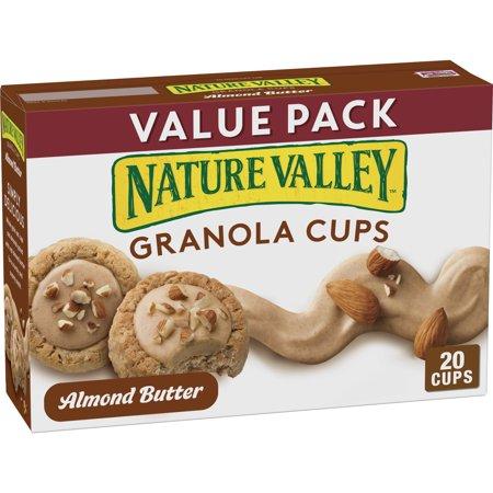 Nature Valley Granola Cups Almond Butter, 12.4 oz, 10 - 124 Grain