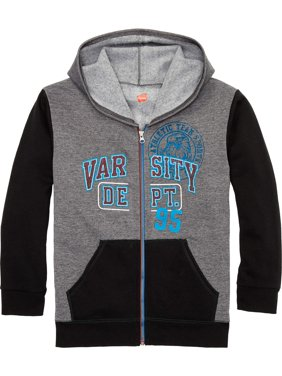 Fleece Colorblock Zip Up Hooded Sweatshirt (Little Boys & Big Boys)