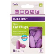 (3 Pack) Flents Plugs Quiet Time Comfort Foam Ear Plug, 20 ct