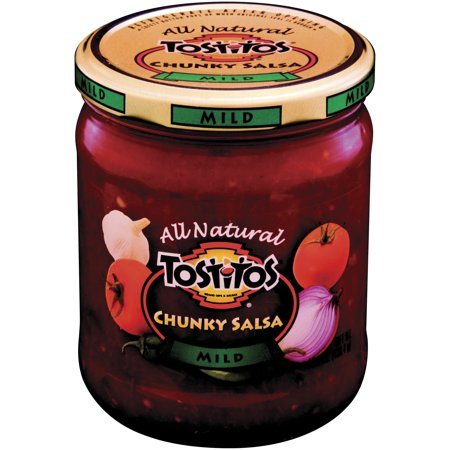 (2 Pack) Tostitos All Natural Chunky Salsa, Mild, 15.5 oz. Jar (Jar Salsa)